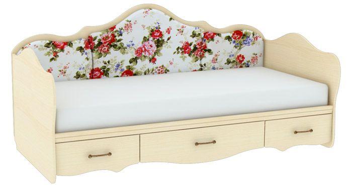 Диван-кровать может иметь дополнительную функцию хранения и выглядеть при этом лёгкой