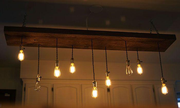 Свет в стиле лофт: для создания дизайнерской люстры много не надо, но каков эффект!
