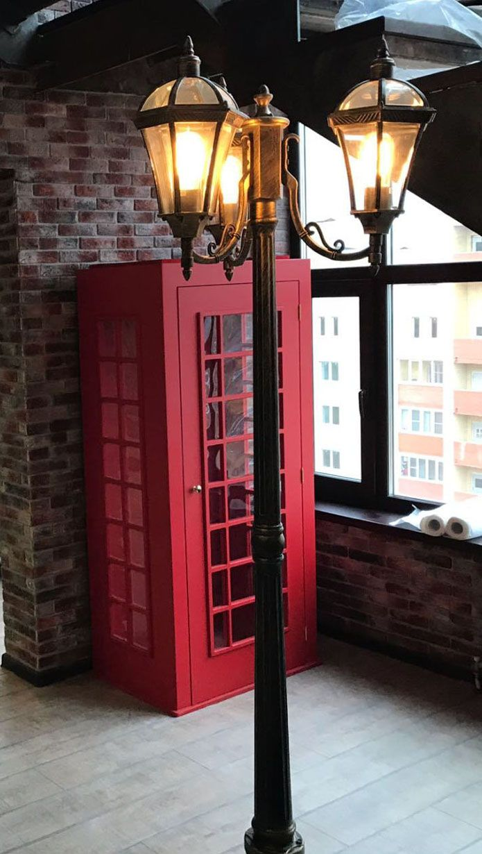 На фото модель уличного светильника в стиле лофт
