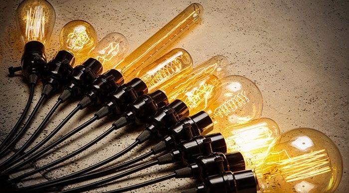 Набор лампочек Эдисона идеален для лофта с привкусом ретро