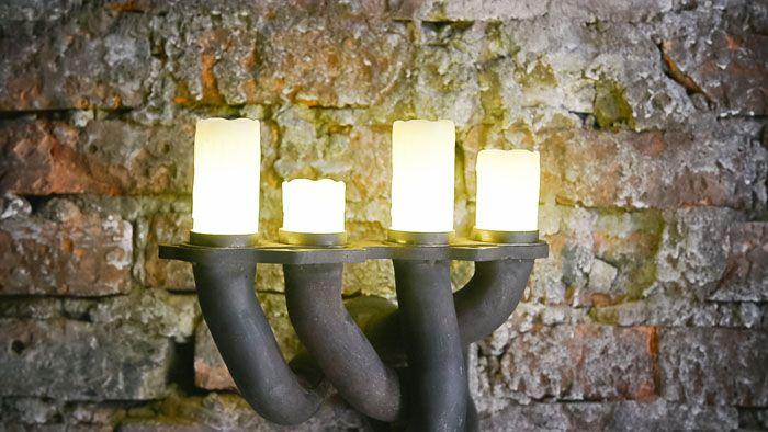 Алюминиевые трубы и интересные лампочки тоже рождены под заботливыми руками дизайнеров
