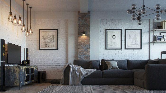 Расположение осветительных приборов в разных концах комнаты позволяет направлять свет в нужные участки, делая желаемые акценты