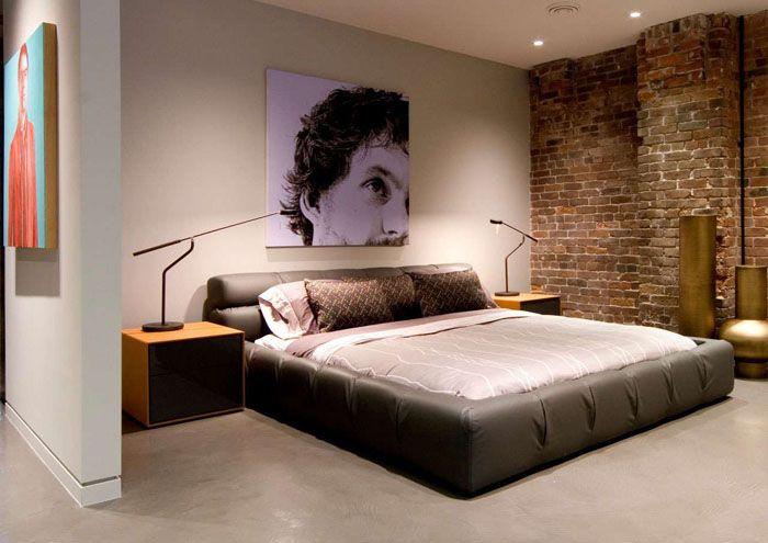 Точечное освещение не кажется резким, что идеально подходит для спальни