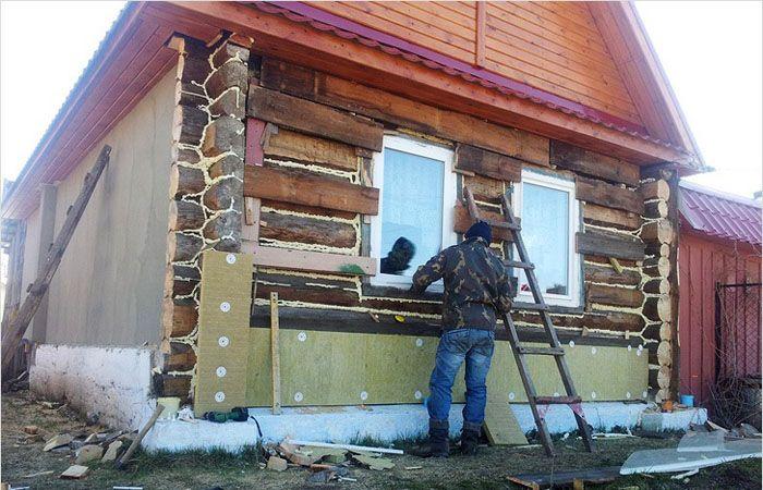 Утепление деревянного дома с использованием минеральной ваты