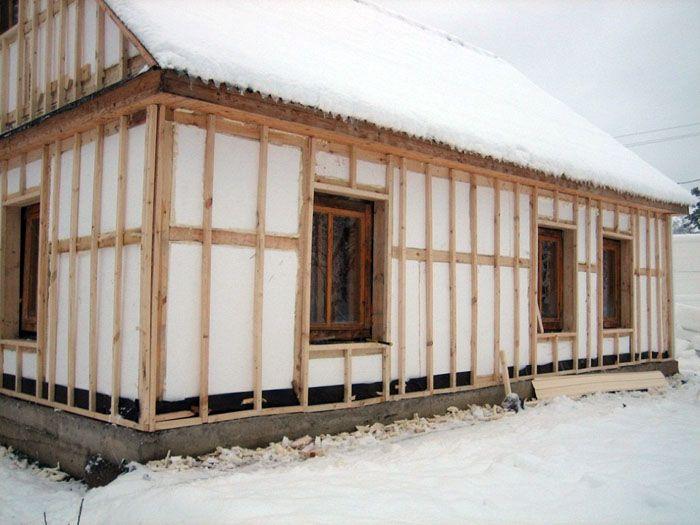 Использование пенопласта для утепления каркасного дома