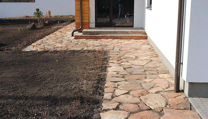 Использование натурального камня для декорирования придомовой территории
