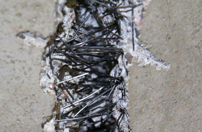 Фибробетон, изготовленный с использованием стальной проволоки