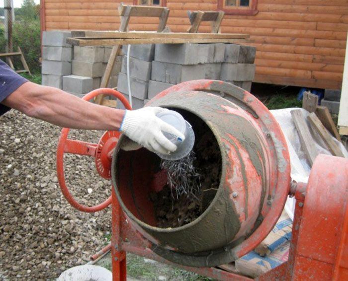 Приготовление фибробетона непосредственно на строительной площадке