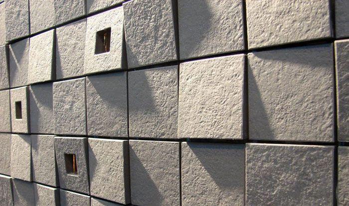 С использованием фибробетона изготавливаются фасадные и отделочные панели