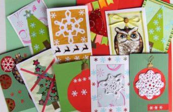 Новогодние открытки своими руками