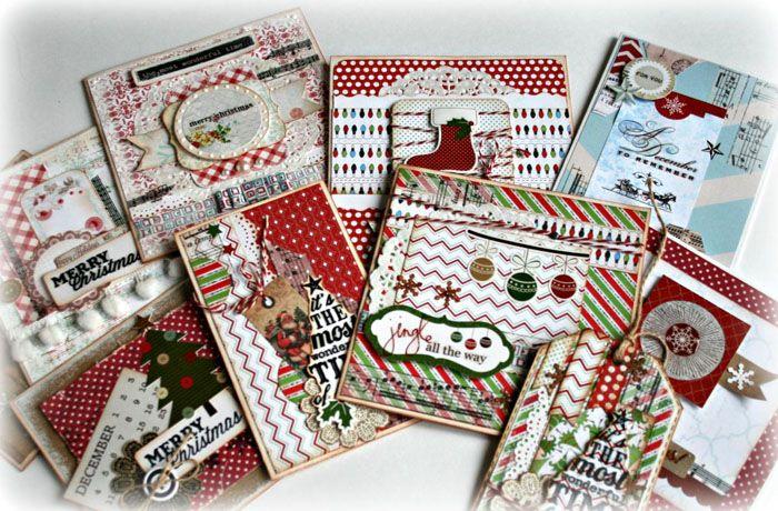 На процесс изготовления открытки в стиле скрапбукинг на Новый годпотребуется не только время, но и множество ресурсов
