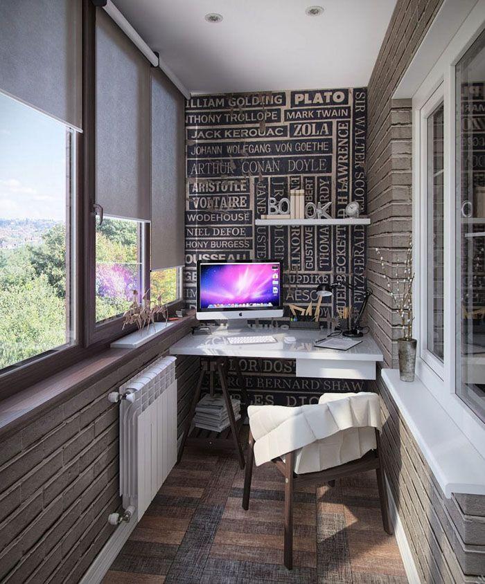 Светлый небольшой уютный кабинет — усилий для его оформления много не надо, а пользы хоть отбавляй