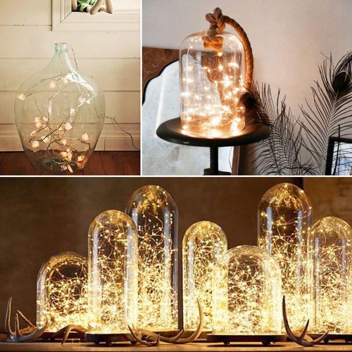Оригинальное волшебное применение светодиодных гирлянд