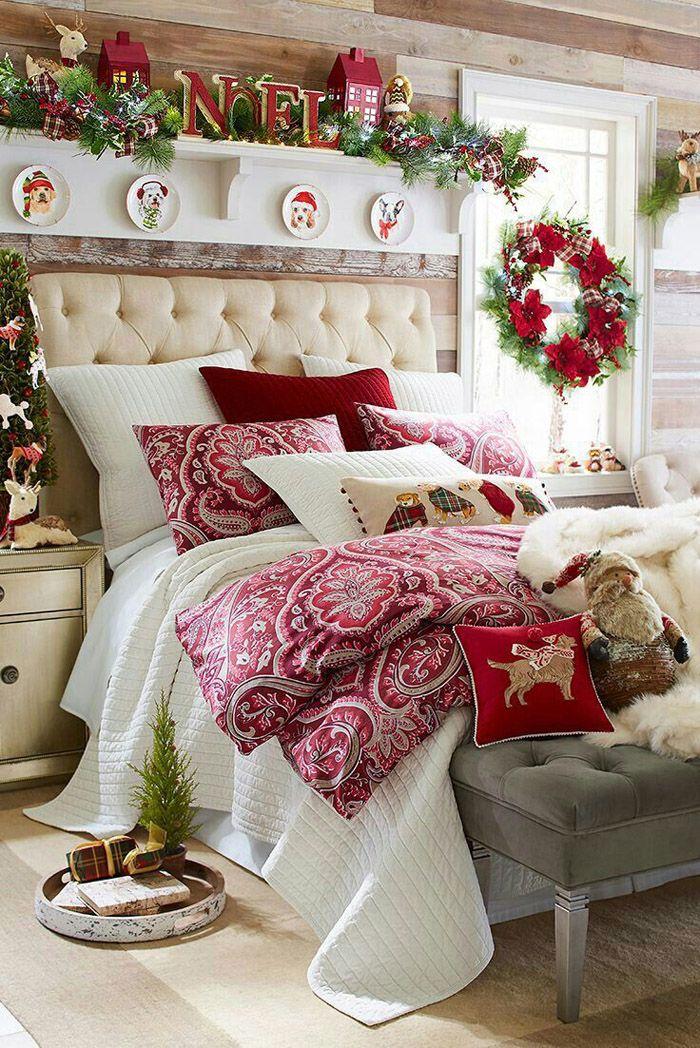 Спальня тоже имеет право быть наряженной. Просыпаться в таком помещении дорогого стоит!
