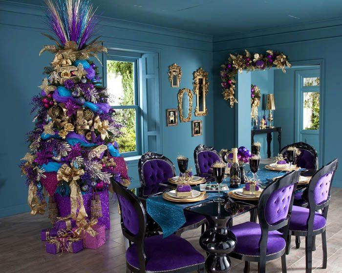Фиолетовый и синий: нестандартное Рождество