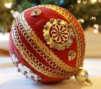 Новогодние шары своими руками