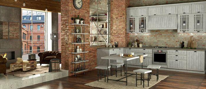 Для хранения в кухнях часто используют стеллажи открытого типа. Мебель кажется скорее грубо сколоченной, но детальное рассмотрение покажет мастерскую работу