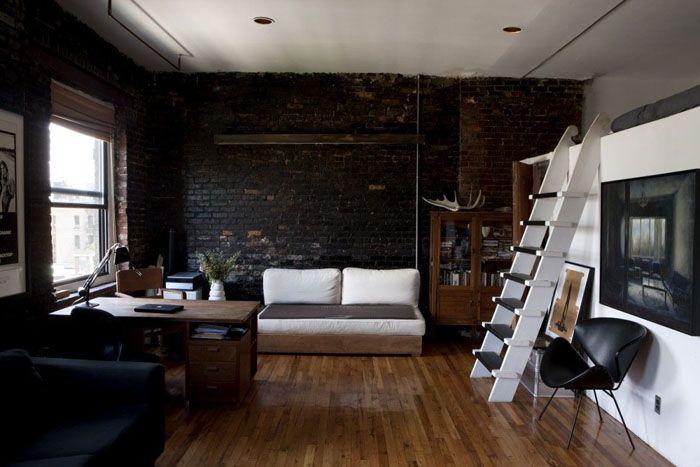 Пример оформления маленькой студии под лофт