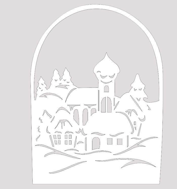 Рождественские мотивы тоже могут быть отображены в бумажной деревне
