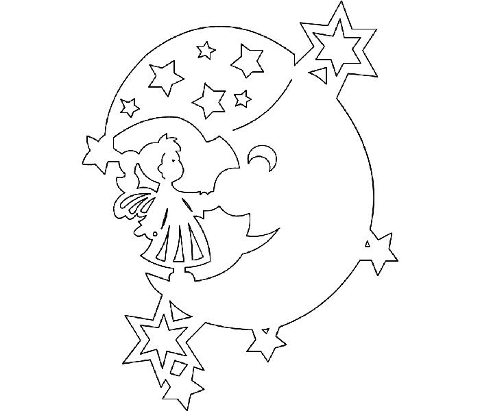 Месяц и звёзды отлично украсят окошко в детской спальне