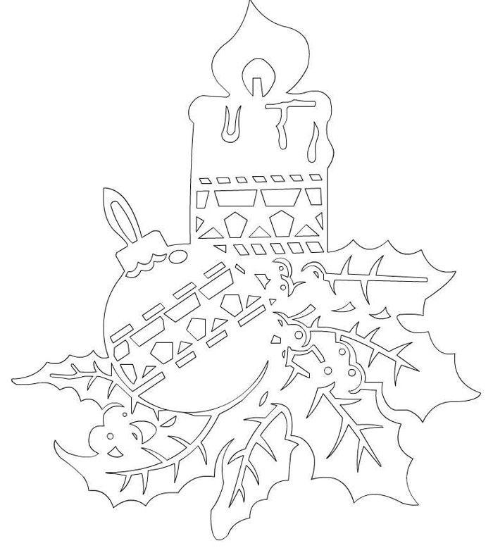 В одной небольшой вытынанке соединились сразу три праздничных элемента