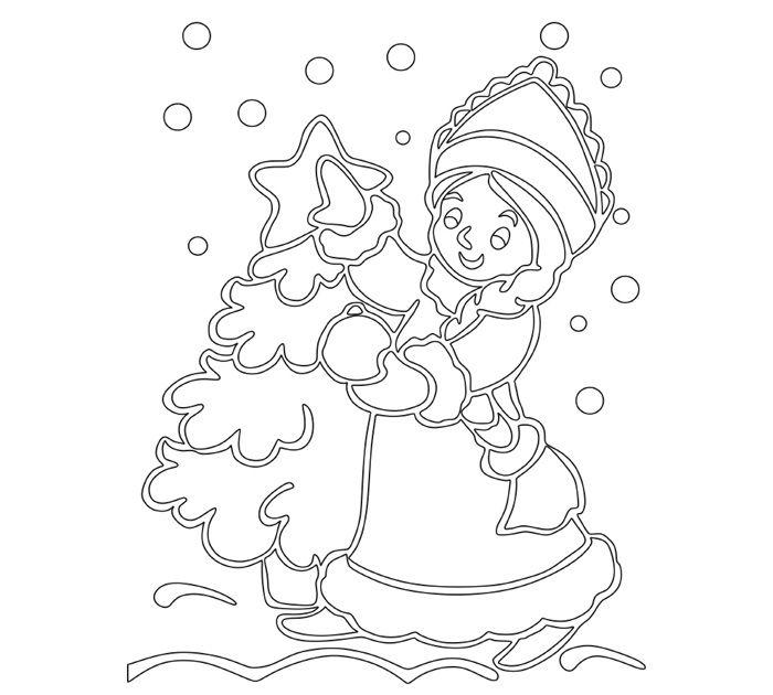 Снегурочка порадует маленьких девочек