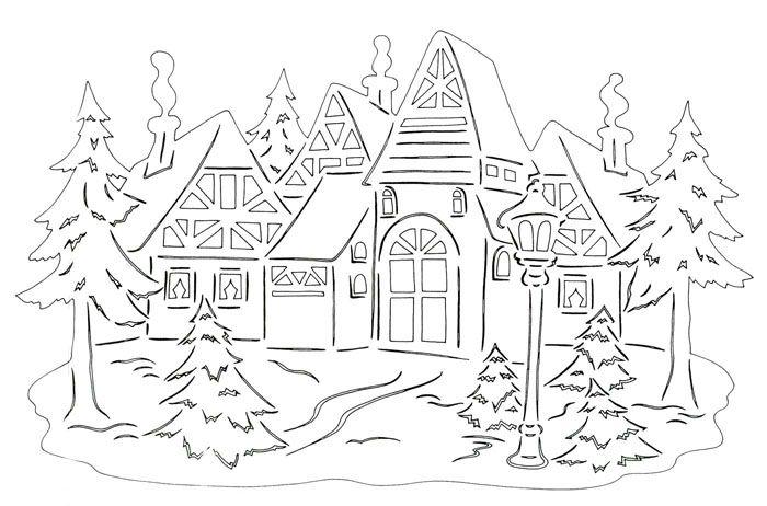 Городок, затерянный в снегу, будет отлично создавать зимнее настроение