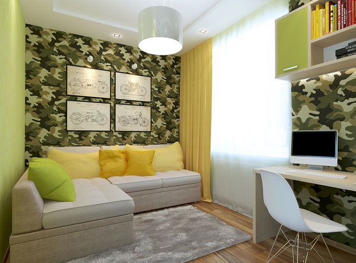 К светлой мебели берут яркие подушки