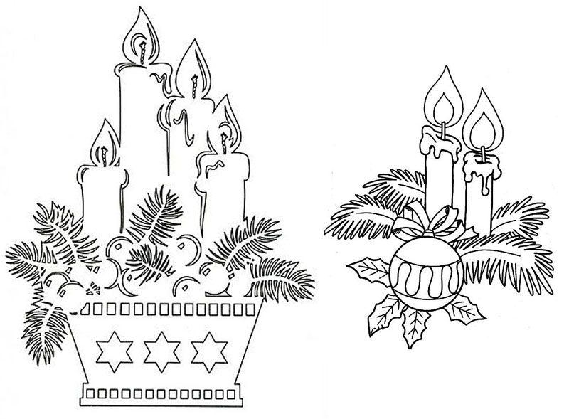 Можно вырезать свечи и из цветной бумаги