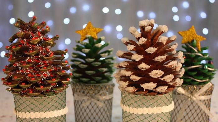 Новогодние поделки из шишек своими руками: фото