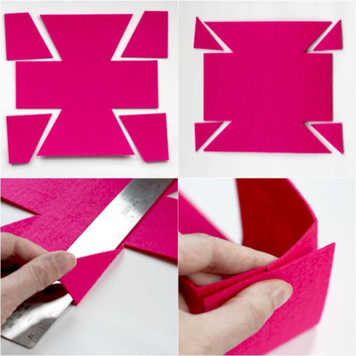 Прикладываем лист к монитору и срисовываем контуры коробочки. Один разворот – крышка, другой – место для хранения