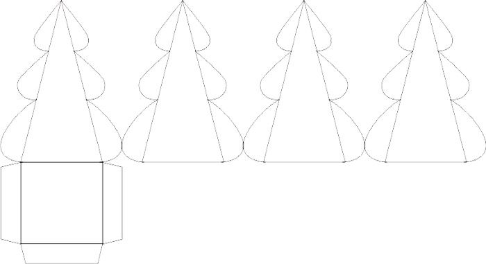 Шаблон коробочки можно скачать и распечатать, или нарисовать подобный. Главное, чтобы все края точно подошли друг к другу