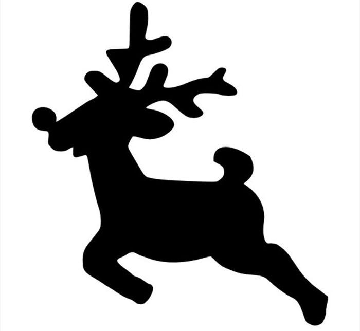 Силуэты оленей украсят аппликации с зимним лесом