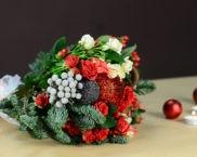 Букет новогодний своими руками
