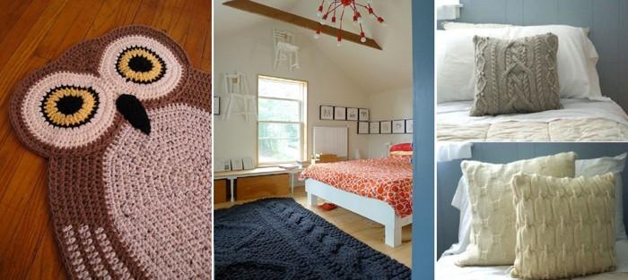 Коврик, подушки, покрывала – не только красиво, но и тепло
