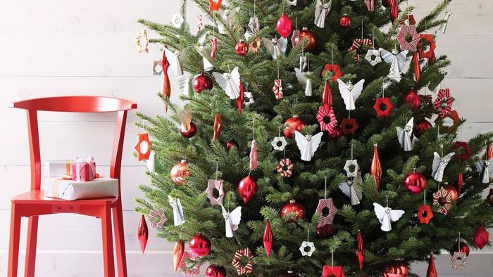Как дома красиво украсить ёлку на Новый год (фото)