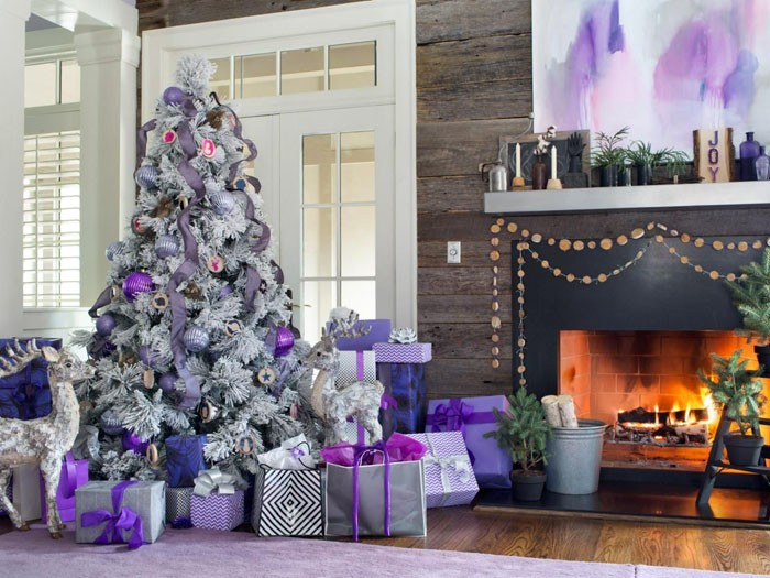 В противовес традициям: бело-фиолетовый декор