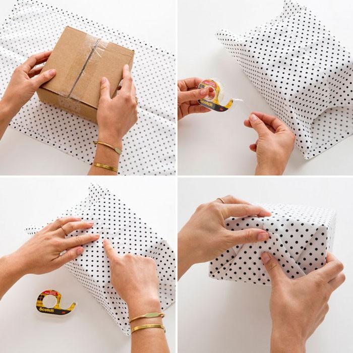 Подарок можно завернуть и в ткань