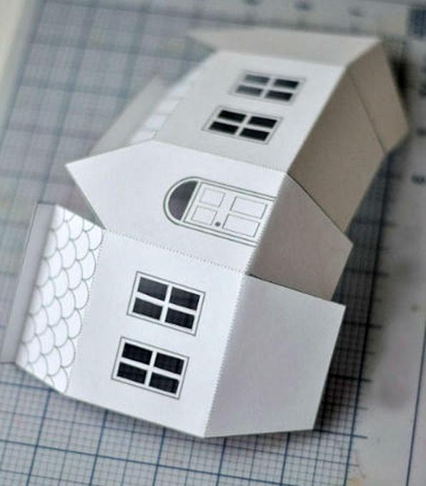 Красиво и стильно будут смотреться одноцветные коробки-домики