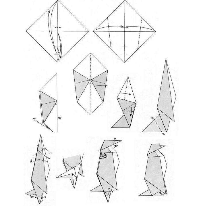 Императорский пингвин может стать главой семейства, если делать его из большего квадрата, чем остальные