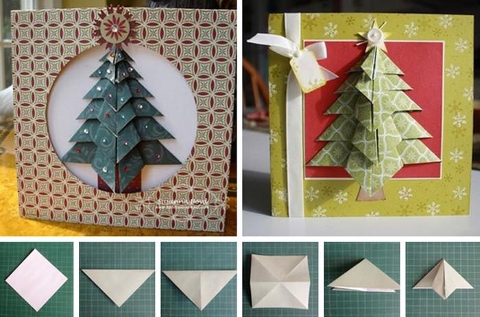 Открытки, открытки из оригами на новый год