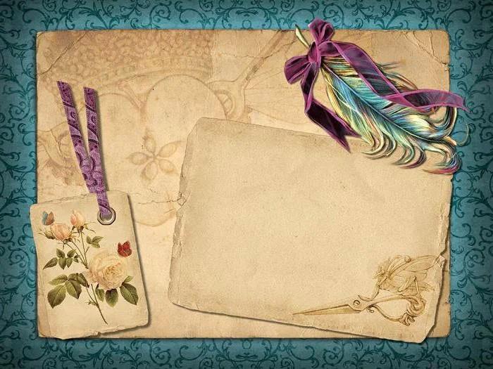 Искусственно состаренная бумага смотрится романтично и подойдёт для открыток в стиле ретро, винтаж
