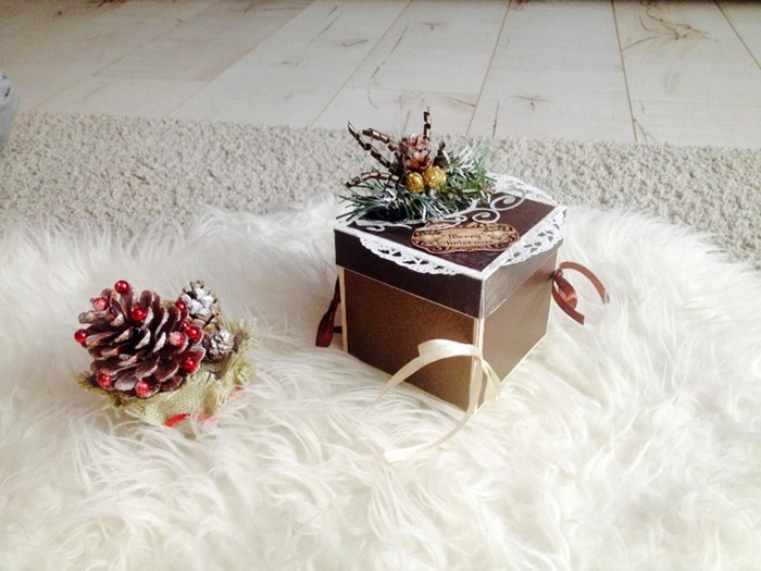 Декор коробочек ориентирован на то, что они послужат также украшением интерьера