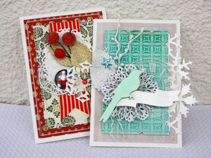 Рассмотрим новогоднюю открытку. Из каких материалов она состоит, и какие инструменты использовались в работе? Не каждый сразу назовёт все элементы и скажет, как это сделано