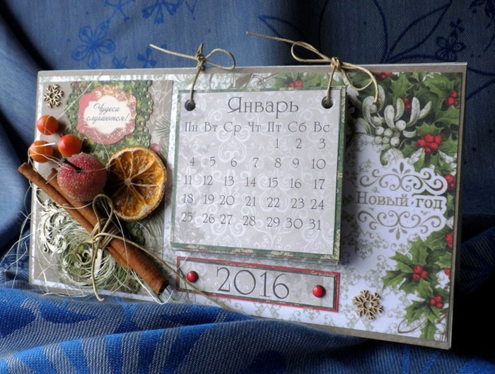 Календарь на январь неизменно будет радовать того, для кого была создана подобная красота