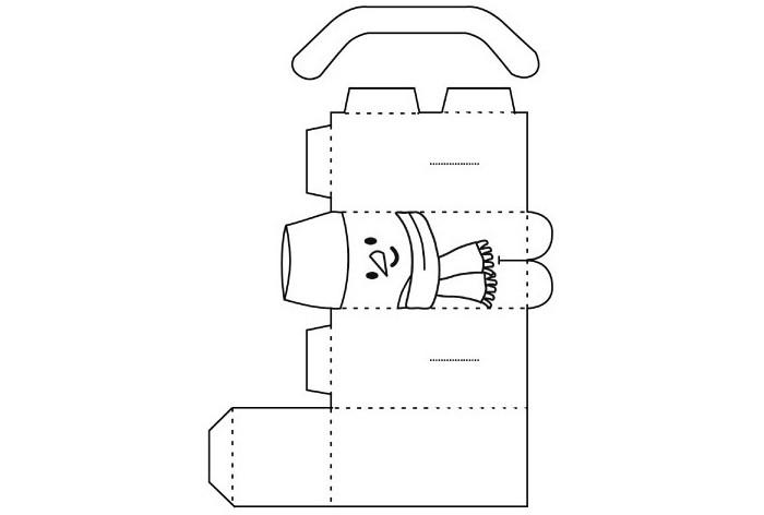 Геометрический снеговик: распечатываем, разукрашиваем и даём ребёнку поработать самостоятельно