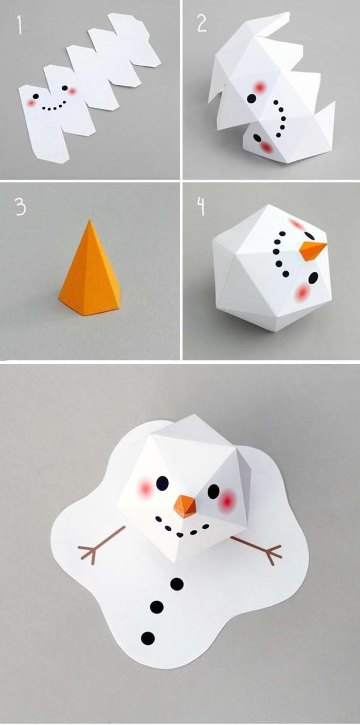 По нехитрому шаблону из треугольников делают объёмную поделку