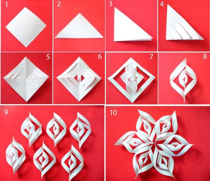 Делаем прорези и соединяем попарно элементы каждой стороны, чередуя направление. Шесть модулей собираются вместе с помощью степлера, скотча или клея