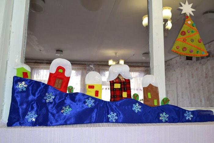 Текстильные сказки на окнах и дверях