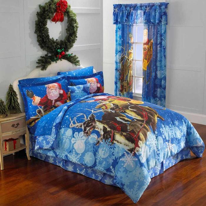 Текстиль тоже легко становится праздничным украшением